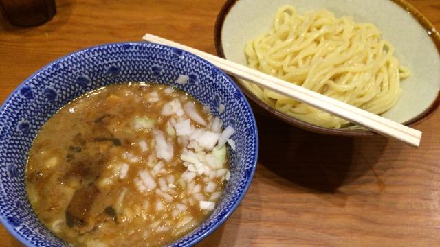 百日紅@濃厚つけ麺+玉ねぎトッピング