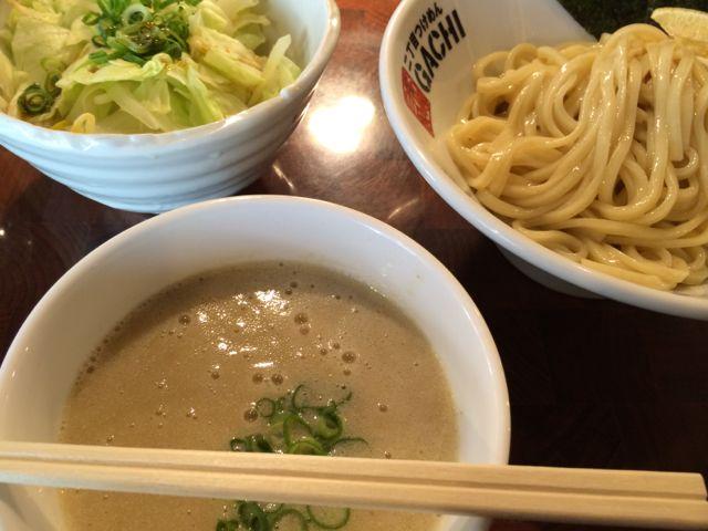 濃厚鶏塩つけめん+ゆで野菜@GACHI